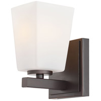 Minka-Lavery City Square 1 Light Bath in Lathan Bronze 6541-167