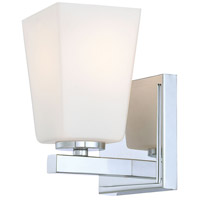 Minka-Lavery 6541-77 City Square 1 Light 9 inch Chrome Bath Bar Wall Light