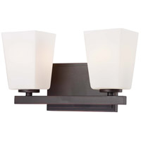 Minka-Lavery City Square 2 Light Bath in Lathan Bronze 6542-167