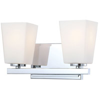 City Square 2 Light 12 inch Chrome Bath Bar Wall Light