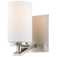 Inoui 1 Light 6 inch Brushed Nickel Bath Wall Light
