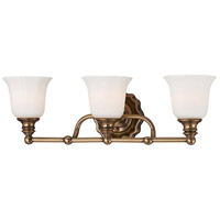 Minka-Lavery Felice 3 Light Bath in Vintage Cheshire Gold 6593-289