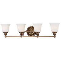 Minka-Lavery 6594-289 Felice 4 Light 30 inch Vintage Cheshire Gold Bath Wall Light photo thumbnail