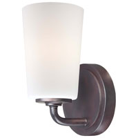 Modern Continental 1 Light 5 inch Kinston Bronze Bath Wall Light