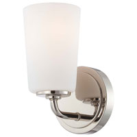 Minka-Lavery Modern Continental 1 Light Bath in Polished Nickel 6611-613