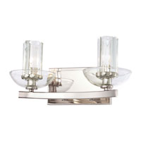 Minka-Lavery Urban Nouveau 2 Light Bath in Polished Nickel 6692-613