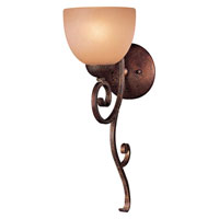Minka-Lavery Caspian 1 Light Sconce in Golden Bronze 6721-355