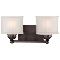 1730 Series 2 Light 15 inch Lathan Bronze Bath Bar Wall Light