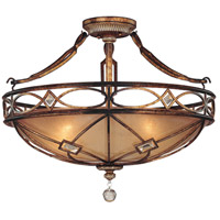 Aston Court 3 Light 25 inch Aston Court Bronze Semi Flush Mount Ceiling Light