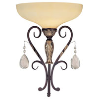 Minka-Lavery Bellasera 1 Light Sconce in Castlewood Walnut w/Silver Highlights 6770-301
