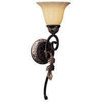 Minka-Lavery Bellasera 1 Light Sconce in Castlewood Walnut w/Silver Highlights 6771-301