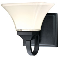 Agilis 1 Light 8 inch Black Bath Bar Wall Light