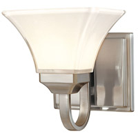 Agilis 1 Light 8 inch Brushed Nickel Bath Bar Wall Light