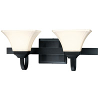 Minka-Lavery 6812-66 Agilis 2 Light 21 inch Black Bath Bar Wall Light photo thumbnail
