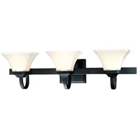 Agilis 3 Light 32 inch Black Bath Wall Light