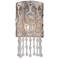 Lucero 1 Light 5 inch Florentine Silver Bath Sconce Wall Light