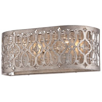 Lucero 2 Light 16 inch Florentine Silver Bath Bar Wall Light