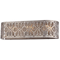 Lucero 3 Light 23 inch Florentine Silver Bath Bar Wall Light