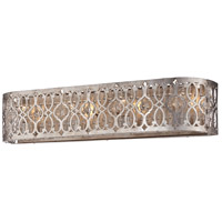 Lucero 4 Light 30 inch Florentine Silver Bath Bar Wall Light