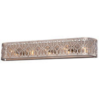 Lucero 5 Light 37 inch Florentine Silver Bath Bar Wall Light