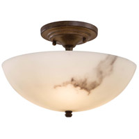 Calavera 3 Light 12 inch Nutmeg Semi Flush Mount Ceiling Light
