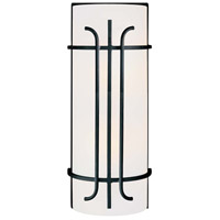 Iconic 2 Light 7 inch Black Bath Sconce Wall Light