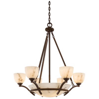 Minka-Lavery Calavera 9 Light Chandelier in Nutmeg 688-14 photo thumbnail