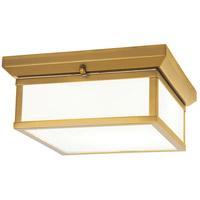 Signature 1 Light 13 inch Liberty Gold Flushmount Ceiling Light
