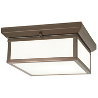 Minka-Lavery Daventry 2 Light Flushmount in Harvard Court Bronze/ Polished Nickel 6919-281