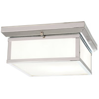 Daventry Bath 2 Light 13 inch Polished Nickel Flush Mount Ceiling Light