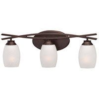 Minka-Lavery City Club 3 Light Bath in Dark Brushed Bronze 6953-267B