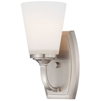 Minka-Lavery Overland Park 1 Light Bath Vanity Light in Brushed Nickel 6961-84