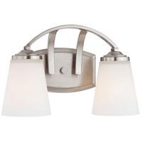 Minka-Lavery 6962-84 Overland Park 2 Light 14 inch Brushed Nickel Bath Bar Wall Light