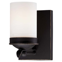 Minka-Lavery Kingsgate 1 Light Bath Vanity Light in Kona Black With Gold Highlight 6971-269