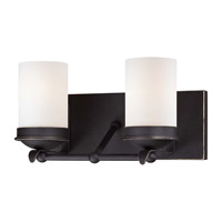 Minka-Lavery Kingsgate 2 Light Vanity Light in Kona Black With Gold Highlight 6972-269