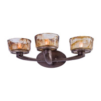 La Bohem 3 Light 24 inch Monarch Bronze Bath Bar Wall Light