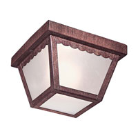 The Great Outdoors by Minka Signature 1 Light Flushmount in Vintage Rust 71154-61-PL