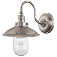 Minka-Lavery Downtown Edison 1 Light Wall Sconce in Brushed Nickel 71162-84