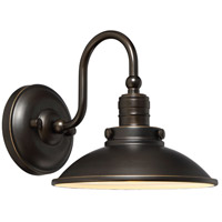 Baytree Lane LED 9 inch Oil Rubbed Bronze W/ Gold Outdoor Wall Lantern in Oil Rubbed Bronze And Gold Highlights
