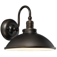Baytree Lane LED 10 inch Oil Rubbed Bronze W/ Gold Outdoor Wall Lantern in Oil Rubbed Bronze And Gold Highlights