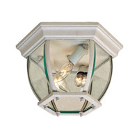 The Great Outdoors by Minka Signature 3 Light Flushmount in White 71174-44