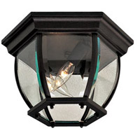 Wyndmere 3 Light 11 inch Black Outdoor Flush Mount Lantern