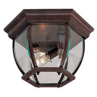 Wyndmere 3 Light 11 inch Antique Bronze Outdoor Flush Mount Lantern