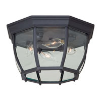 The Great Outdoors by Minka Signature 4 Light Flushmount in Black 71175-66