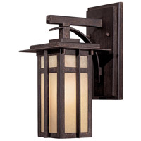 Delancy 1 Light 12 inch Iron Oxide Outdoor Wall Mount