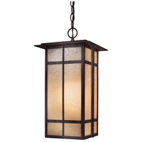 Delancy 1 Light 10 inch Iron Oxide Outdoor Chain Hung Lantern