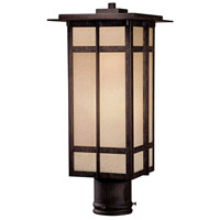 Delancy 1 Light 18 inch Iron Oxide Outdoor Post Mount