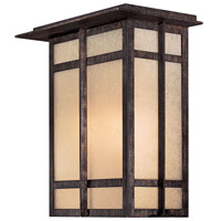 Delancy 1 Light 12 inch Iron Oxide Outdoor Pocket Lantern