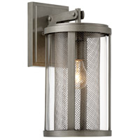 Radian 1 Light 15 inch Painted Brushed Nickel Outdoor Wall Lantern, The Great Outdoors