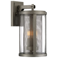 Radian 3 Light 18 inch Painted Brushed Nickel Outdoor Wall Light, The Great Outdoors